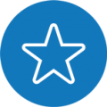 Etoile - Bleu